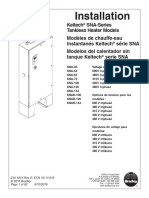 Safety Shower Installation guide