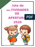 LISTA-DE-ACTIVIDADES-DE-APERTURA-Y-SEMANA-DE-ADAPTACIÓN-2020.odt
