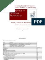 Forensic Psychiatry Curriculum in UK