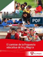 El caminar de la Propuesta Educativa FE Y ALEGRIA