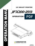 MIMAKI JFX200-2513 OPERATIONS MANUAL