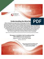 Understanding the Mirai Botnet