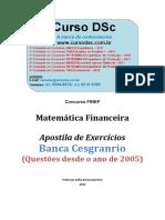 DSC exercicios mat financ