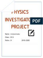 -Physics-Investigatory-Project
