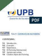 Tema 9 Contrato de Factoring