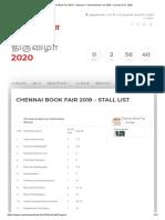 Stall List – Chennai Book Fair 2020 – January 9-21, 2020