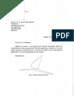 Carta y Oficio Pte Parlamento Europeo