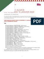 2020 01 09 Prévisions de Trafic Alsace Mouvement Interprofessionnel Du Vendredi 10 Janvier 2020