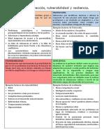 Factores de Riesgo, Protección, Vulnerabilidad y Resiliencia