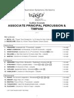 Associate Principal Percussion and Timpani Excerpts 2017