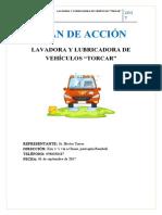 """PLAN DE ACCIÒN LAVADORA """"TORCAR"""""""