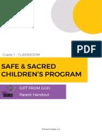 grade 01 parent handout