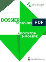 Dossier Sponsoring - Kame eSport