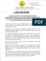 GBC DISAPPOINTED WITH GFA