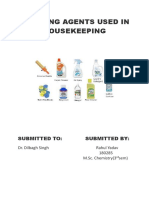 CLEANING AGENTS USED IN HOUSEKEEPING