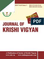 Journal of Krishi Vigyan Vol 8 Issue 1