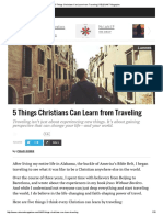 5 Things Christians Can Learn from Traveling _ RELEVANT Magazine