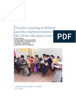 Formación de maestros en Bolivia y la implementación de la reforma educativa 2010 - Catharina Jenny Schipper