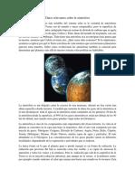Datos relevantes sobre la atmósfera
