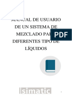 MANUAL DE USUARIO DE UN SISTEMA DE MEZCLDO PARA DIFERENTES TIPO DE LIQUIDOS