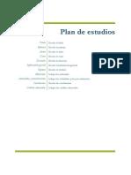 Plan de estudios materias