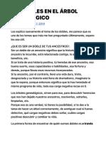 LOS DOBLES EN EL ÁRBOL GENEALÓGICO | EL LAMENTO NO VIENE A CUENTO ni trae cuenta.pdf
