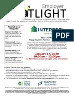 Jan 2020 - Employer Spotlight