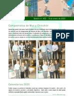 Boletín Informativo de Oberena 9 de Enero de 2020