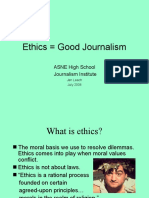 JAN ASNE Good Journalism