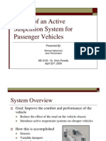 Design of an Active Suspension System for Passenger