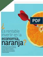 Es rentable invertir en la economía naranja