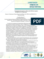 Diseño De Un Programa De Mantenimiento Basado En Los Pilares Del TPM Para la planta de FRIOGAN S.A-Villavicencio