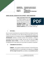 LIQUIDACION DE ALIMENTOS 00142 - 2015