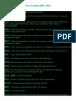 1 - Lista Transações ABAP - BASIS
