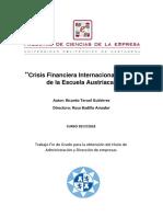 Teruel Gutiérrez, Badillo Amador. Crisis Financiera Internacional a la luz de la Escuela Austriaca - Taesis de Grado_2019