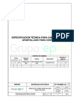 ET-TD-ME01-24 CABLES COBRE APANTALLADOS PARA CONTROL