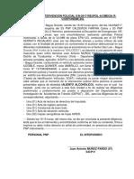 ACTA DE INTERVENCIÓN POLICIAL ALCOHOLEMIA