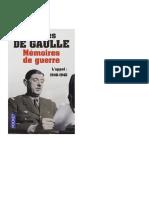 De Gaulle - Mémoires de Guerre  tome 1 L'appel .pdf