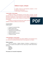 Unidad 5, Medidas de Asepsia y Antisepsia