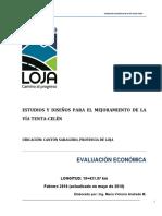 Evaluacion economica TENTA - CELEN