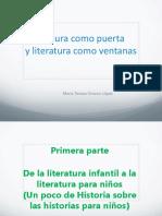 Lectura como puerta y literatura como ventanas