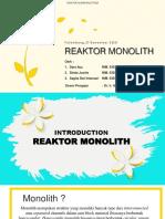 Presentasi REAKTOR MONOLITH 27-11