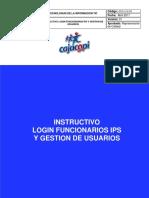 GTIC-015-FR -  Instructivo  Login Funcionarios IPS