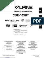 ALPINE CDE-103BT Owner's Manual