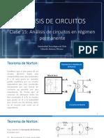 Clase 15- Teorema de Norton en CA, ejercitación y transformadores delta estrella