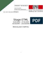 Stage Etml