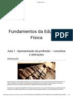 FUNDAMENTOS DA EDUCACAO FISICA
