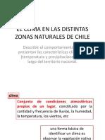 EL CLIMA EN LAS DISTINTAS ZONAS NATURALES DE