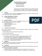 PROCOR Shape up program concept of operation