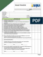 M01-A- Vessel Checklist